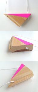 Timber Kette - Neon/pink Tri von FurrowSouth um ca. 50 Euro