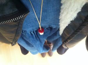 MEin Outfit: Kleid - Asos, Apfelburznkette, Vintage Schuhe - Ebay