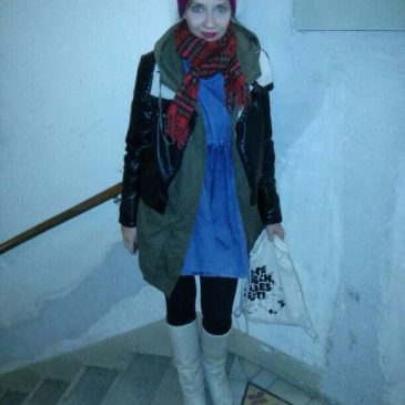 Outfit: Vintage Plateaustiefel