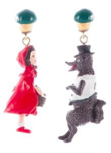 Schneewittchen und der böse Wolf Ohrringe um 50 Euro