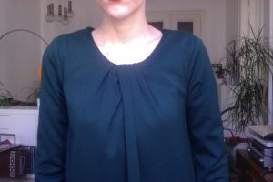 waldgrünes Kleid von Zara