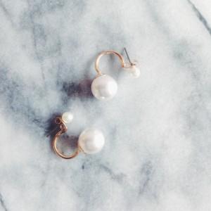Doppelte Perlen Ear Jackets um 20 Euro (+ Versandgebühr)