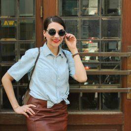 Outfit: Lederrock