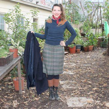Outfit: Verwirrte Schnöselfrau verwandelt sich in einen Bohnenranke