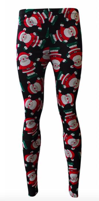 Weihnachtsmann Leggings um ca. 10 Euro auf amazon