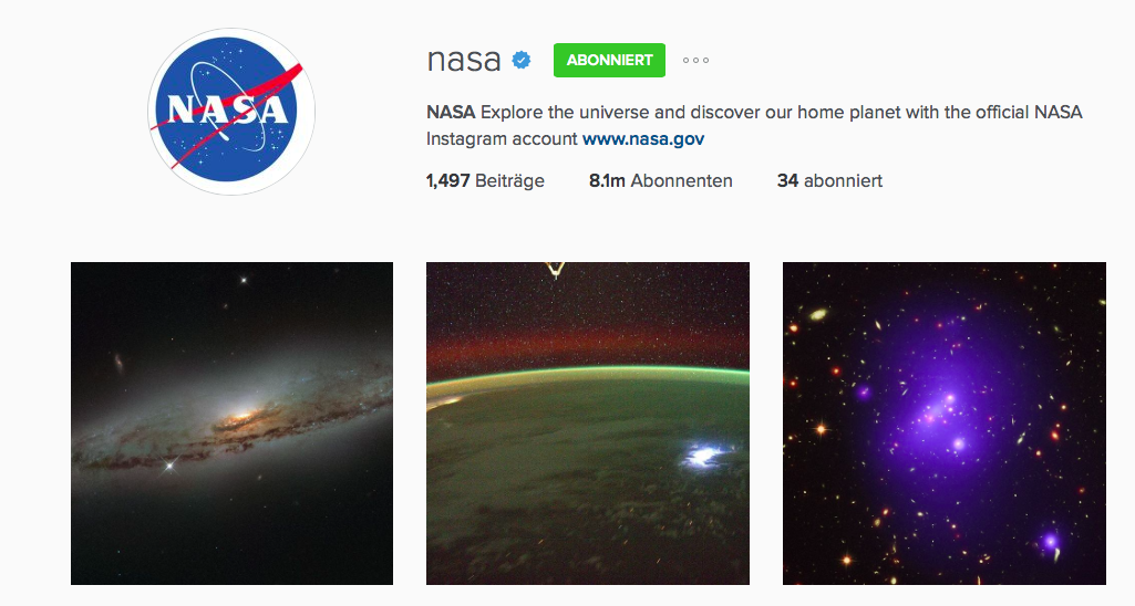 nasa instagram