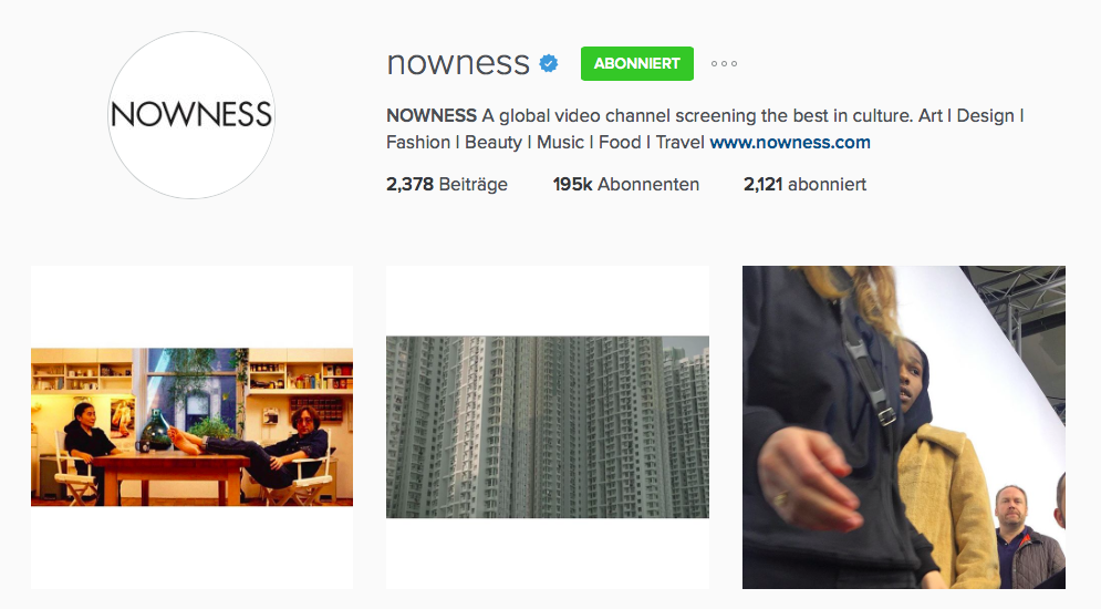 nowness instagram