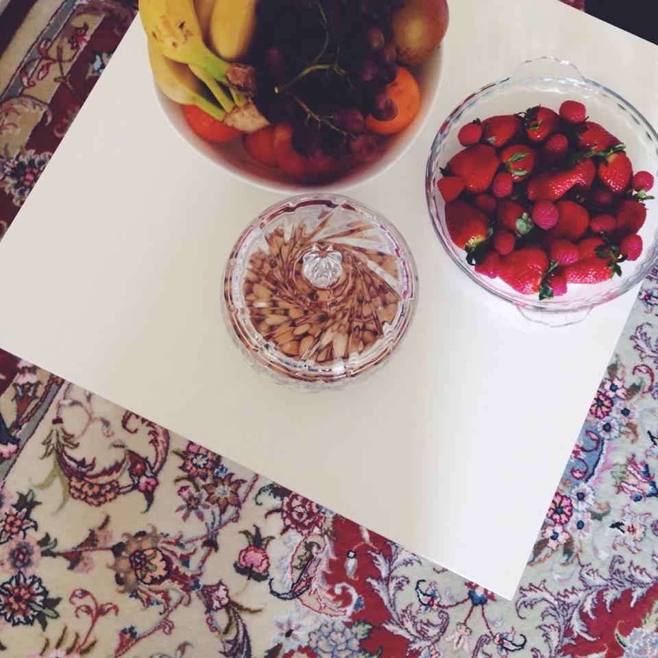 Falls man noch hungrig war, konnte man Nüsse und Obst essen.