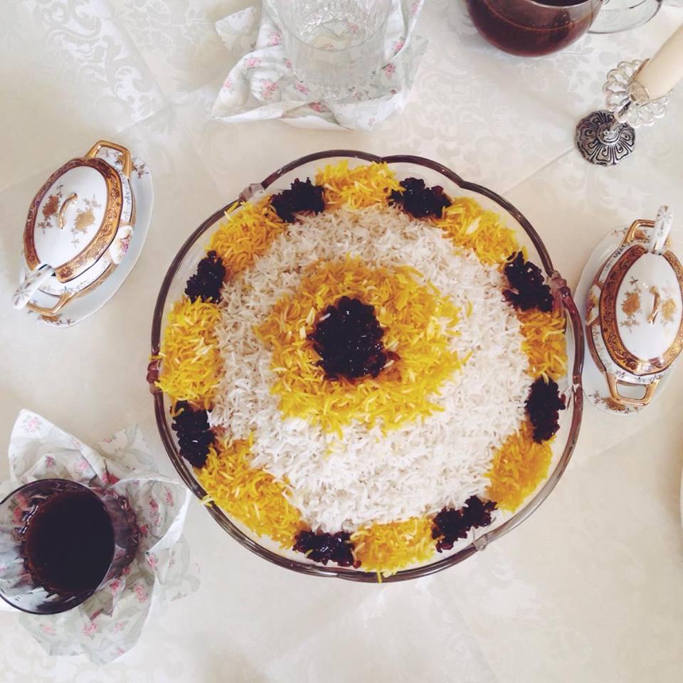 persischer Reis mit Safran