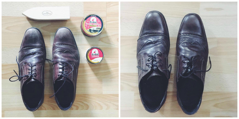 Schuhe (nicht meine) - vorher schmutzig dann im SUPERGLANZ